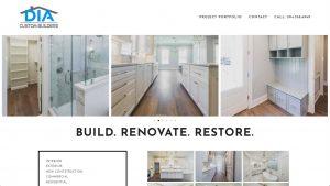 DIA Custom Builders - Renovation Contractor Web Site Design