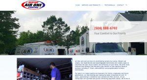 HVAC website design by NOLA Media and Design in New Orleans