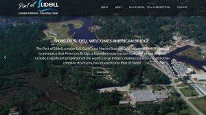 Port of Slidell website design