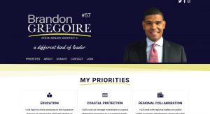 Brandon Gregoire for Senate - political candidate web site design