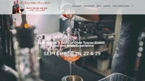 A Taste of Olde Towne Slidell Food and Wine Experience Fundraiser Web Site Design