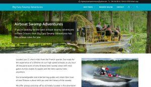 New Orleans Tour Company Website Design