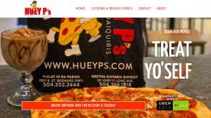 New Orleans website designer - restaurant website design, pizza restaurant website design