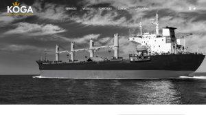 cargo shipping company website design