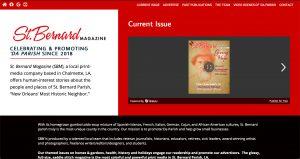 St. Bernard Magazine website design