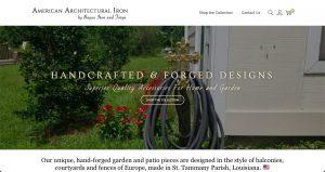 Patio and garden accessories website design