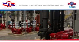 Hydronic Technology Industrial Website Design