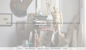 Practice Preservation Art Institute website design