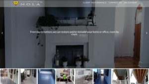 New Orleans contractor construction website design