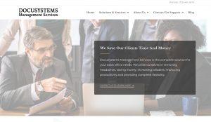 Document automation website design Docu Systems