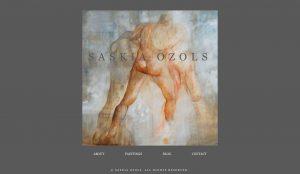 Saskia Ozols artist website design