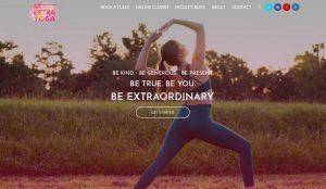 Be Extra Yoga website design