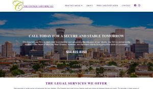 The Council Law Firm website redesign