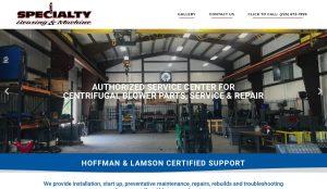 Specialty Bearing Industrial Equipment Repair website design