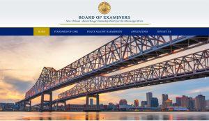 New Orleans Baton Rouge Steamship Pilots website design