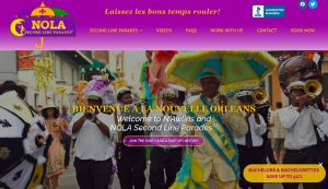 NOLA Second Line Parades website design