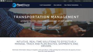 Transportation Trucking website design