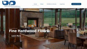 Hardwood Flooring / Interior Design Website Design